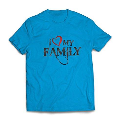 Camisetas Hombre Camisas de diseñador únicas Muestran tu Amor: increíbles Conjuntos a Juego con la Familia (Small Azul Multicolor)