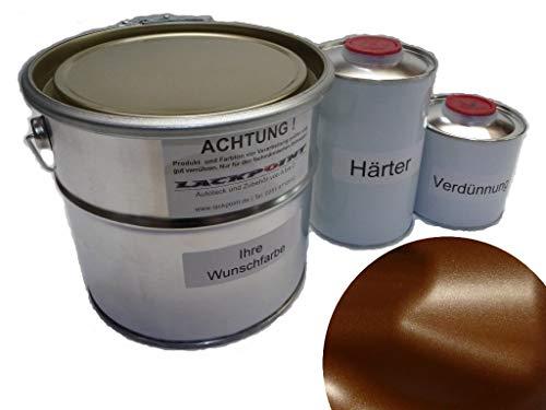 Lackpoint 1,75 Liter Set 2K Autolack Schoko Braun Metallic Matt Kein Klarlack Trendlack
