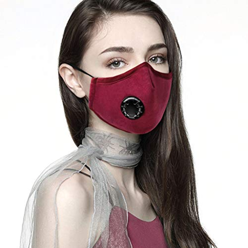 Zolimx Mundschutz für Staubdicht Outdoor, Gesichtsschut Wiederverwendbar Staubdicht Winddichtes Atemschutzgerät Schut für Nebligen Dunst