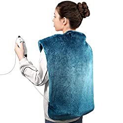 Heating Pad, 26 x 33 Inch Electric Heating Pad for Neck and Shoulders, 6 Temperature Settings, Dry & Moist Massage Heat Therapy - Auto Shut Off