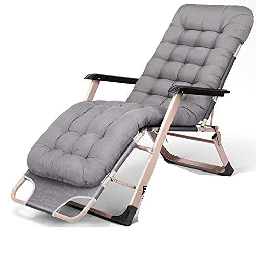 YVX Tumbona, Minimalista y Moderna Silla reclinable de Metal para el hogar, sin instalación, Plegable, Cama Individual, Moda, portátil, balcón, Taburete perezoso-11