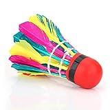 Changor Boules de Badminton durables, oie de la tête en Mousse et tête de Boule de Bouchon de Bouchon Composite (coloré)
