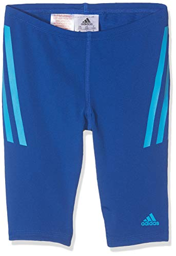adidas Jungen Pro Jam 3-Streifen Badehose, Collegiate Royal/Shock Cyan, 176
