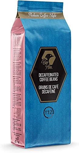 Beo Hive   Café en Grano   Café Descafeinado Gran Crema   1 kg   Aromático y de Tueste Natural   Café Descafeinado en Grano Natural   Café en Grano Calidad Premium