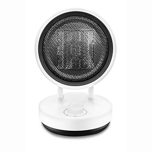 ecHome PTC Ceramic Heater 1500W Round Oscillating Fan 3 Heat Levels CH1500