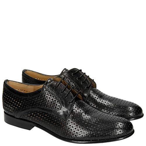Melvin & Hamilton Derby Schuhe Damen Sally 17 Schwarz 37