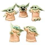 Juego de figuras de acción de Yoda de 6 piezas de juguete Wopin-Mini figuras de fiesta de cumpleaños...