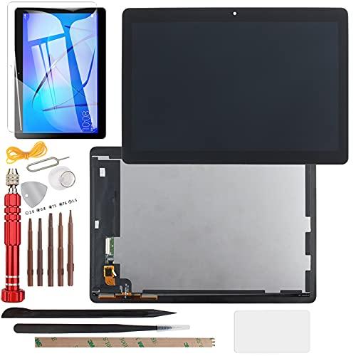YHX-OU 9,6 tum för Huawei MediaPad T3 10 AGS-L09 AGS-W09 AGS-L03 LCD skärm pekskärm ersättningsskärm med gratis verktyg (svart)