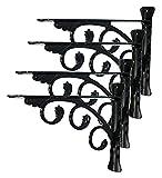 Soportes de estantería Estantería montada en la pared Soporte...