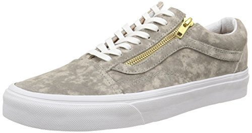 Vans Unisex-Erwachsene U Old Skool Zip Low-top, Grün (Marble Suede/Khaki/True White), 36 EU