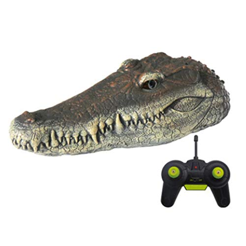 JVSISM 2,4 GHz Simulation Krokodil Fernbedienung Schiff Schwimmendes Krokodil Fern Bedienung Boot Kinder Parodie Spielzeug Geschenk