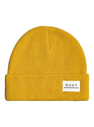 Roxy Island Fox-Gorro con Dobladillo, Mujer, Mineral Yellow, 1SZ