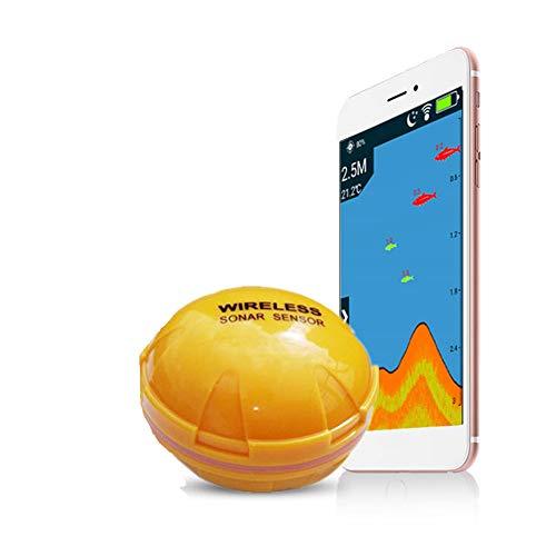 Buscador de los pescados, Instrumento inalámbrica Bluetooth Submarino de alta definición de instrumentos de los pescados del sonar Medida cebo de pesca al agua de profundidad Temperatura visible