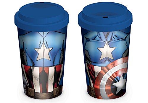 Marvel MGT23765 (Captain America Torso) Travel Mug, Céramique, Multicolore, 12oz/340ml