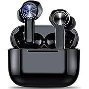 Wireless Headphones, Bluetooth 5.0 Stereo Headphones with Built in Mic, True Wireless in-Ear Earbuds, IP7 Waterproof Wireless Eardphones with USB C Charging Case, CVC8.0 Noise Canceling, Touch Control