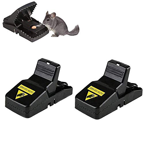 BOMPOW Mouse Traps Reusable Snap Mice Traps That Work Rodent Killer Easy to Bait, 2 Pack