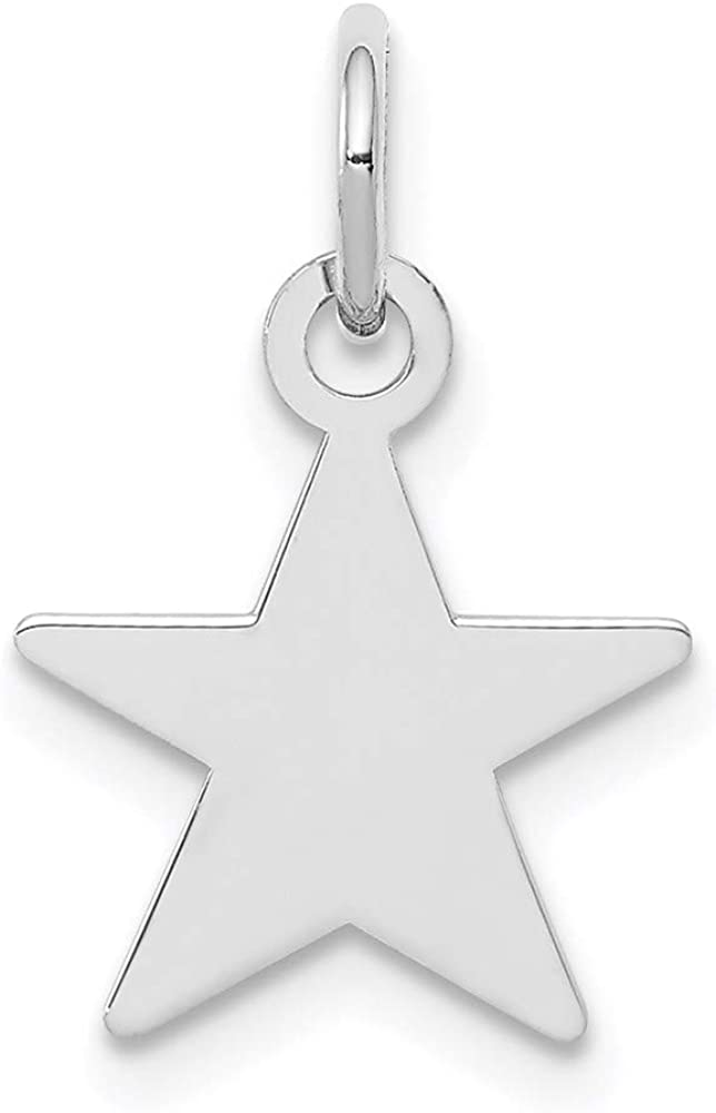 Charm Special Campaign Pendant White Sterling Silver Engr 17 Rhodium-Plated mm 11 Max 54% OFF