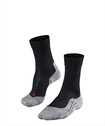 FALKE Damen Wandersocken TK5 - Wanderstrümpfe mit Merinowolle, Bergsocken für leichte Wanderschuhe, Socken mit leichter Polsterung, zum Wandern, 1 Paar, Schwarz (Black-Mix 3010), Größe: 39-40
