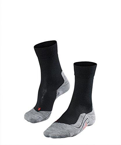FALKE Damen Wandersocken TK5 - Wanderstrümpfe mit Merinowolle, Bergsocken für leichte Wanderschuhe, Socken mit leichter Polsterung, zum Wandern, 1 Paar, Schwarz (Black-Mix 3010), Größe: 37-38