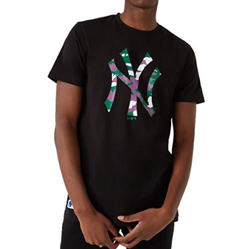 New Era - MLB New York Yankees Camo Camiseta, color negro Negro XXXL