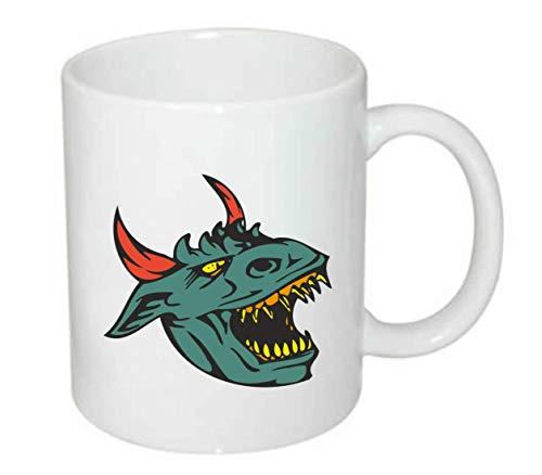 Tasse - Drachenkopf Mit Gefährlichen Zähnen - Kaffee-Tasse 330ml - Unisize aus Keramik - Tee
