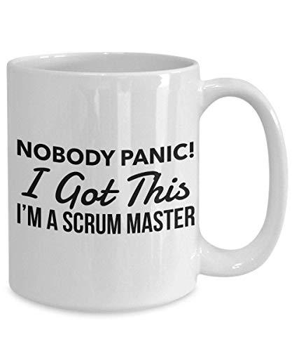 Divertida taza de café personalizada de scrum master, humor scrum master taza de cerámica de 11 oz Taza de bebida de té para el hogar y la oficina, cumpleaños, aniversario, Halloween, Navidad, día de