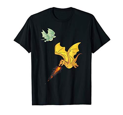 Fliegende Drachen & Feuer spuckende Fabelwesen Dragons T-Shirt