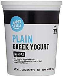 Amazon Brand - Happy Belly Greek Non-Fat Plain Yogurt, 32 Ounce