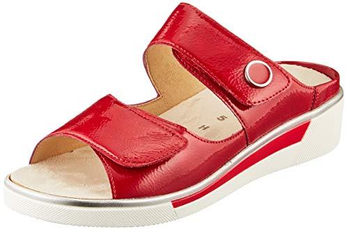 ara Women's Slide Flat Sandal, Red, 9