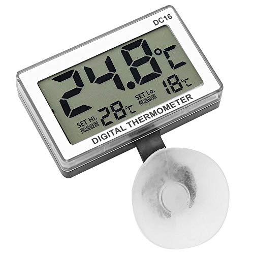 Focket Acquario Termometro,DC16 LCD Digital Aquarium Termometro Termometro Temperatura Impermeabile con Ventosa Adatto per Fish Tank