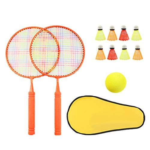 STOBOK 1 zestaw rakiety do badmintona dla dzieci outdoor sport zestaw do gier prezent dla dzieci czerwony