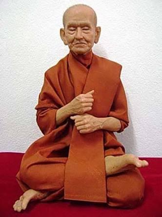Luckythings Thai Buddha Lifelike Statue Legends of Somdeth Toh Thai Monk Resin Fiber Statue Thai Buddha