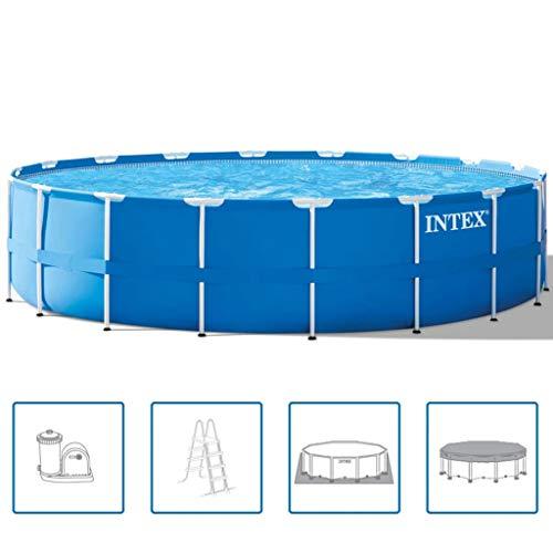 Intex 28752GN–Estructura de Piscina de Superficie 549x549x122cm, 24,311l, Color Azul Claro