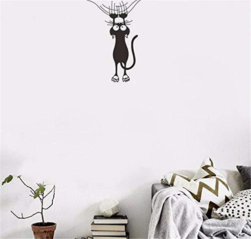 Divertido gato corazón interruptor calcomanía pegatinas de pared para habitaciones de niños nevera decoración de pared dormitorio decoración de boda