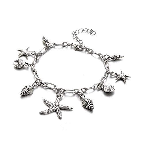 PULABO Fußkettchen, 1PC Frauen Shell Strand Fuß Kette Muschel Sandale Fußkettchen Perlen Armband Schmuck umweltfreundlich und praktisch Beliebt