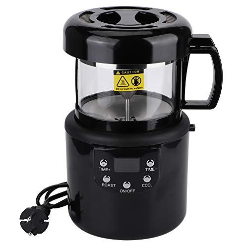 Kaffeeröstmaschine, Digitalanzeige, mit 6 Minuten Abkühlzeit mit Sprachanweisungen für drei Länder. Rauchfreie Kaffeebackmaschine, EU-Stecker 220-240V