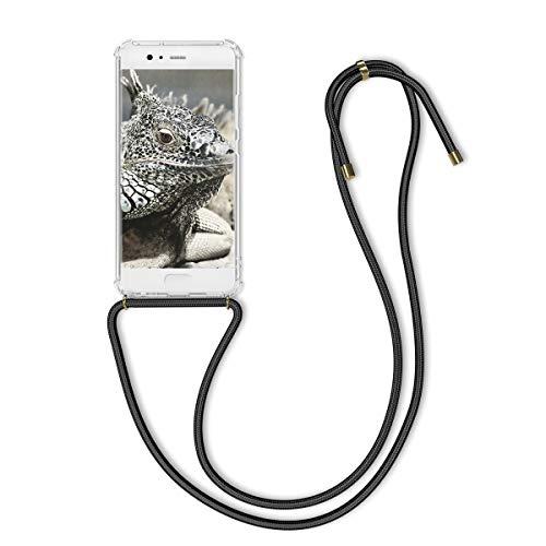 kwmobile Huawei P10 Hülle - mit Kordel zum Umhängen - Silikon Handy Schutzhülle - Transparent