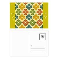キャンディーカラーの花の草の花びら 友人のポストカードセットサンクスカード郵送側20個