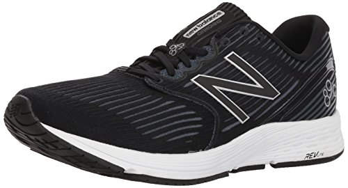 New Balance Men's 890 V6 Running Shoe, Black/Grey, 8.5 D US
