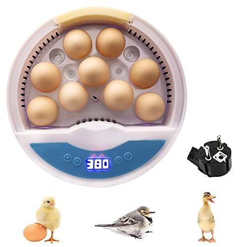 Migaven Incubadoras de Huevos Automaticas, Máquina Incubadora Digital Semiautomática de 9 Huevos, Incubadora de Aves de Corral de Temperatura Ajustable para Pollos, Patos, Codornices, Huevos de Aves