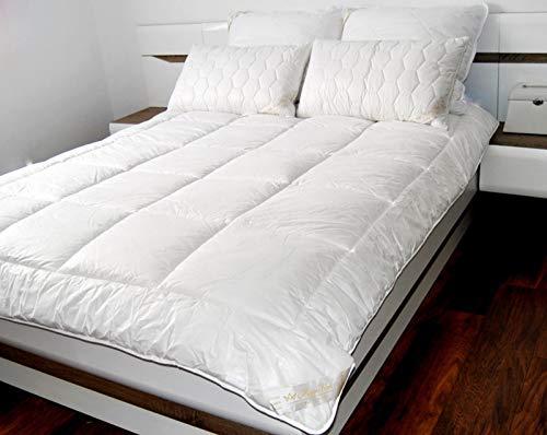 Merino Wool Just Contempo - Edredón de Verano para Cama Individual, 140 x 200 cm, 250 g/m2, 4,5 TOG, Lana y algodón