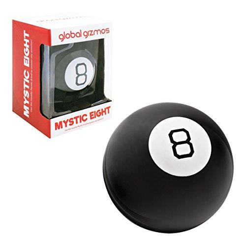 Global Gizmos 50970 Magic Eight Ball | Kinder, Erwachsene, Familienspaß | Zuhause oder Büro | Fragen-und Antwort-Spiel, Schwarz