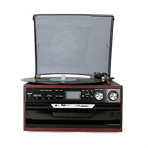 ZSMLB Hi-Fi&Home Audio Tocadiscos portátil, Tocadiscos Vintage Reproductor Vinilo Bluetooth Reproductor Discos LP Inalámbrico Retro Record Retro Audio Tocadiscos Vintage Fonógrafo