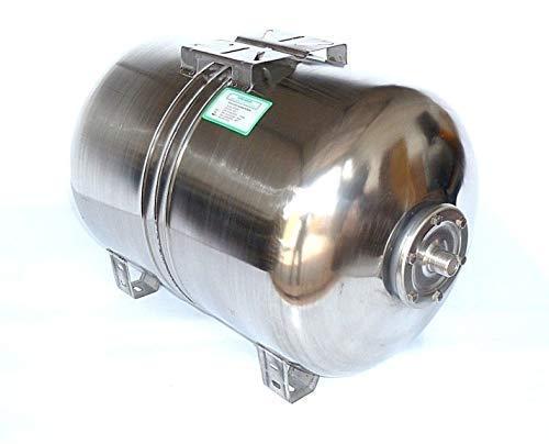 100 Liter Druckkessel, Membrankessel für Hauswasserwerk aus poliertem Edelstahl u. EPDM Membran. Druck- und Dichtheitsprüfung nach EN Normen !!! Max. Druck 10 bar.