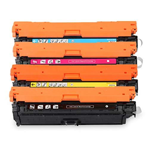 Para HP CE740A para HP Color LaserJet Pro 5525 9500C 9600C Impresora con chip Compatible Cartucho de tóner Reemplazo de la impresora láser Tambores Operación simple set