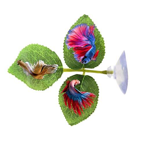Balacoo 2er-Pack Betta-Hängematten-Betta-Fischblatt-Pad - Verbessert die Gesundheit der Bettas indem es die Beta-Blatt-Hängematte des natürlichen Lebensraums simuliert