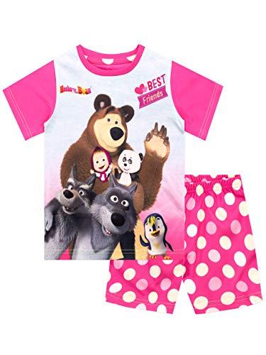 Mascha und der Bär Mädchen Schlafanzug Rosa 110