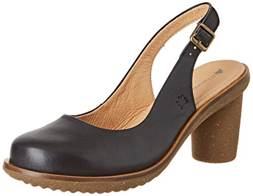El Naturalista Damen N5155 Vaquetilla Schuhe mit geschlossenen Zehen, Schwarz (Black Black), 39 EU