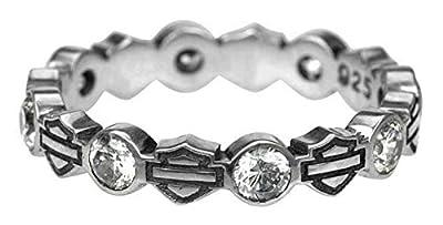 Harley-Davidson Women's Ring, Stacking Bar & Shield Rhinestone Ring HDR0170 (7)