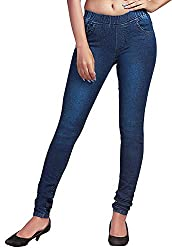 ADBUCKS Womens Silm Fit Light Spray Denim Jeggings with Elasticated Waistband (Multi Color & Plus Size Also Available)